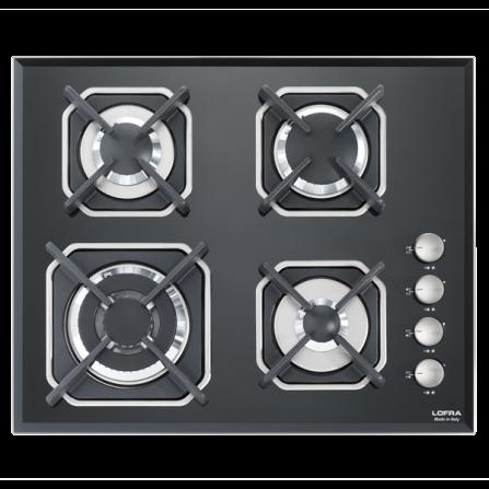 Lofra Piano Cottura a Gas HGN6H0 Vetro Nero da 60cm