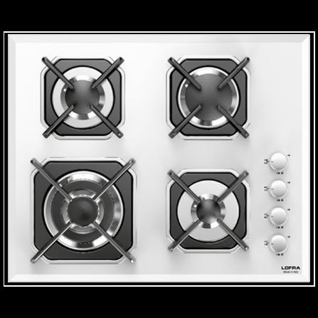 Lofra Piano Cottura a Gas HGB6H0 Vetro Bianco da 60cm