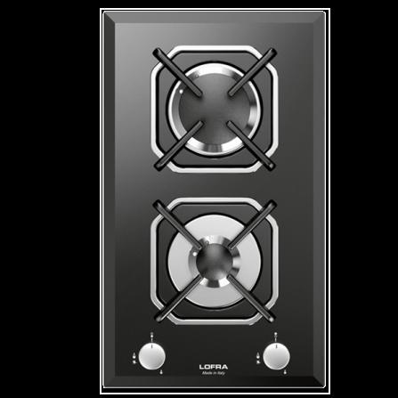 Lofra Piano Cottura a Gas HGN320 Vetro Nero da 30cm