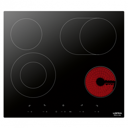 Lofra Piano Cottura ad Induzione Venere 60 Vetro Nero da 60cm